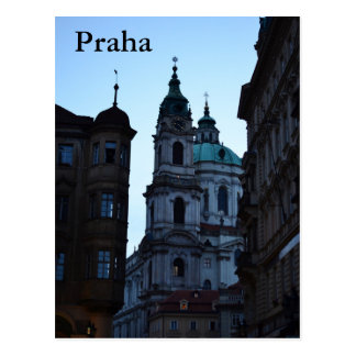Praha Street Postcard