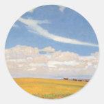 Prairie After Storm by Maynard Dixon Classic Round Sticker
