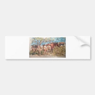Prairie design by artist john branning bumper sticker