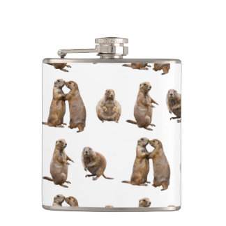Prairie Dog Frenzy Hip Flask (choose colour)