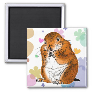 prairie dog which stands (4) magnet