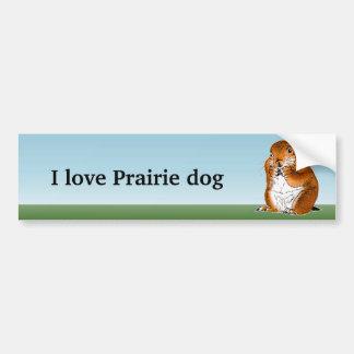 prairie dog which stands bumper sticker