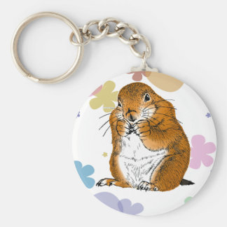 prairie dog which stands key ring