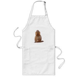 Prairie Dog with Funny Expression Long Apron