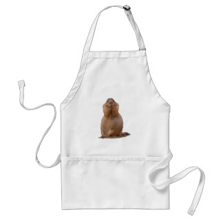Prairie Dog with Funny Expression Adult Apron