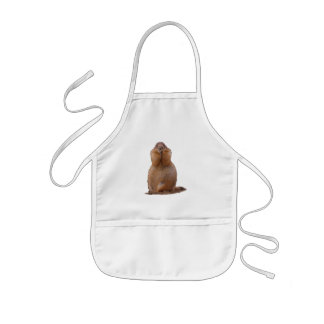Prairie Dog with Funny Expression Kids Apron