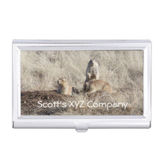 Prairie Dogs photo Case For Business Cards