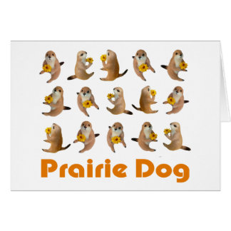 prairie dog's stuffed toy card