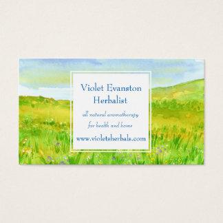 Prairie Grass Wildflower Meadow Herbal Business Card
