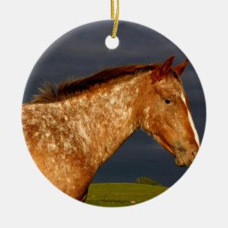 Prairie Horse Ceramic Ornament