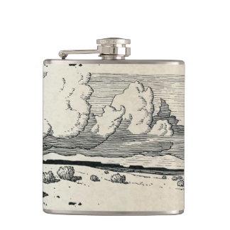 Prairie Scene Flask