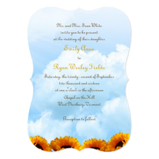 Prairie Sunflower Parents Inviting Wedding Invite