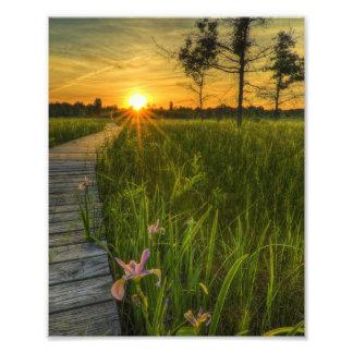 Prairie Sunset Art Photo