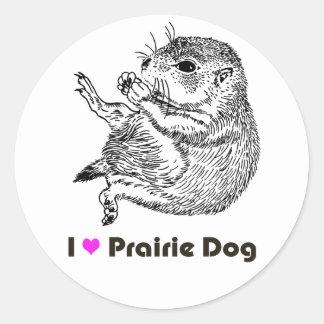 prairiedog sketch (sketch of prairie dog) round sticker