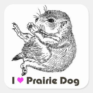 prairiedog sketch sketch of prairie dog square stickers