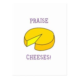 Praise Cheeses Postcard