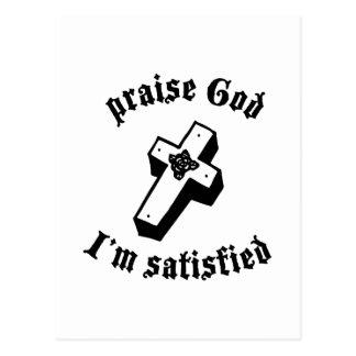 Praise God Postcard