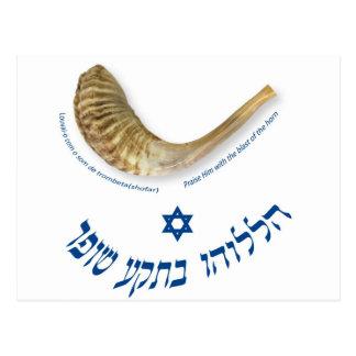 Praise Him with the blast of the horn - the shofar Postcard