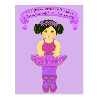 Praise His Name with Dancing 2~Scripture~Print Postcard