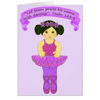 Praise His Name with Dancing 3~Scripture Card