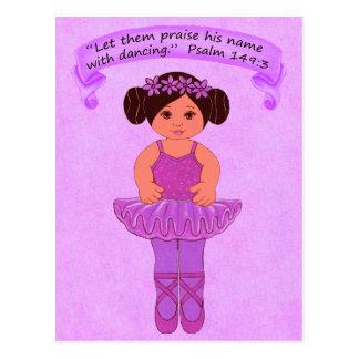 Praise His Name with Dancing 3~Scripture~Print Postcard