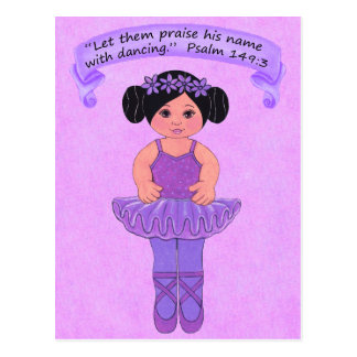 Praise His Name with Dancing 5~Scripture~Print Postcard