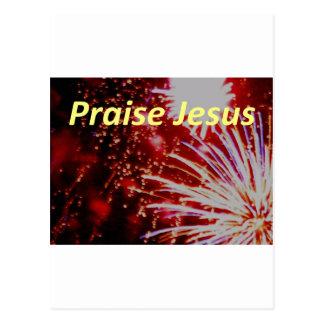praise jesus 10 postcard