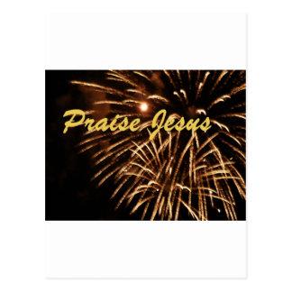 Praise jesus 13 postcard