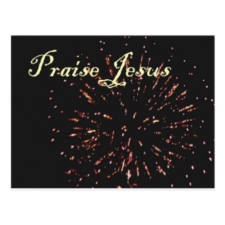 praise jesus 3 postcard