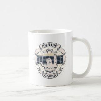 Praise the Chord Basic White Mug