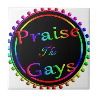 Praise the gays ceramic tile