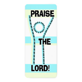 Praise The Lord I Am A Child Of God Word Art Card