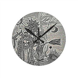 praiseandburn round clock