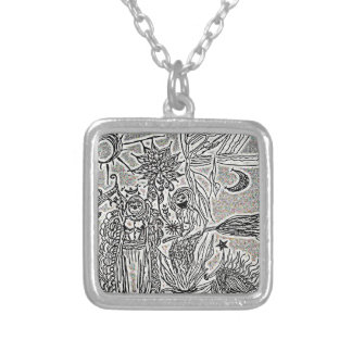 praiseandburn silver plated necklace