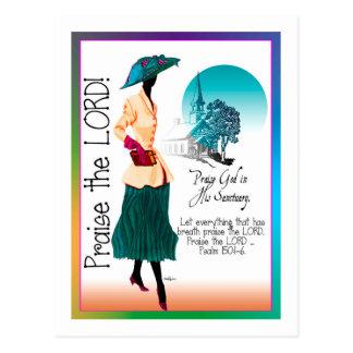 Praised the Lord Postcard