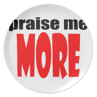 PRAISEmemore praise appraise more teacher school c Plate