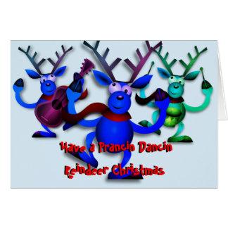 Prancin Dancin Reindeer Christmas Card