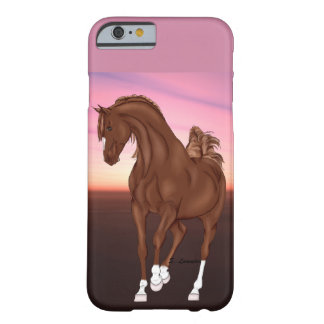 Prancing Chestnut Arabian Horse at Sunset Barely There iPhone 6 Case