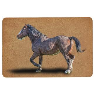 PRANCING HORSE FLOOR MAT