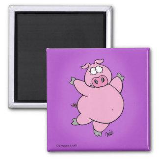 Prancing Pig Magnet