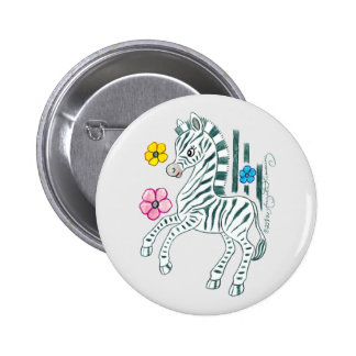 Prancing Zebra Buttons