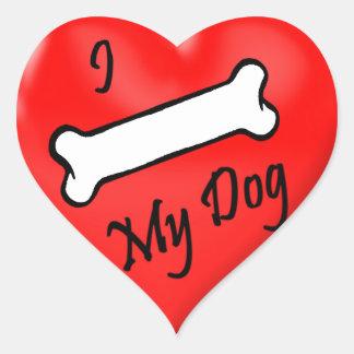 Prank I (bone) my dog heart stickers