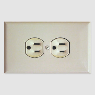 Prank Wall Outlet Decal Rectangular Sticker
