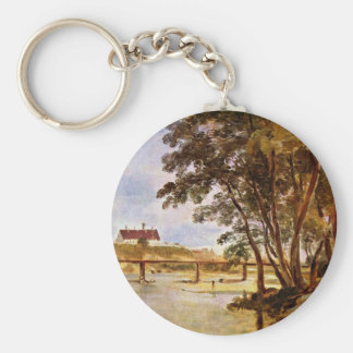 Prater Island With Views To The Infirmary Keychain