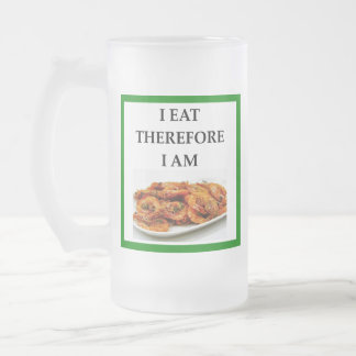 prawn frosted glass beer mug