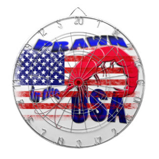 prawn in the usa dartboard