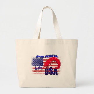 prawn in the usa large tote bag