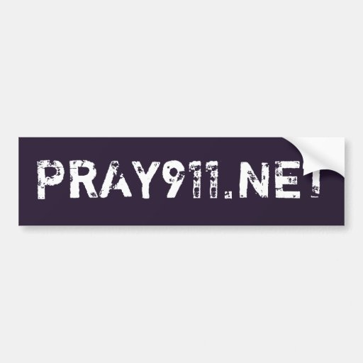 PRAY911.NET BUMPER STICKERS