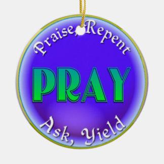 PRAY ACRONYM CHRISTIAN ORNAMENT CHRISTMAS