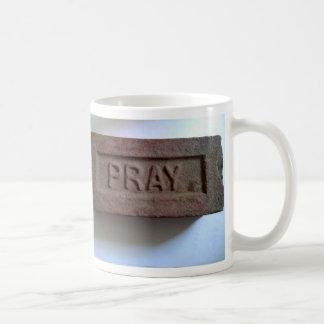 PRAY brick mug